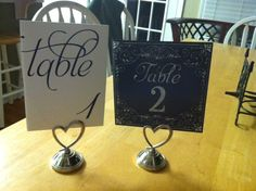 Table Number heartshaped Holders- Silver- 15 pcs.