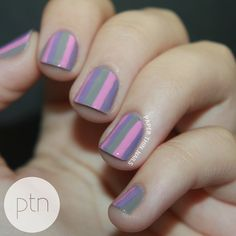 #31DC2013 Day 12 - Stripes by Paper Thin Nails
