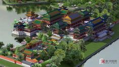 Digital modeling brings China's Old Summer Palace back to life - Global Times China Architecture, Architecture Concept Drawings, Minecraft Architecture, Futuristic Architecture, Architecture Plan, Japanese Palace, Japanese Homes, Fantasy City, Fantasy Castle