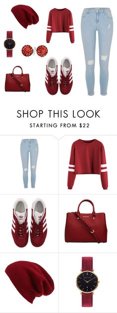 """""""Burgundy"""" by queenna10 ❤ liked on Polyvore featuring River Island, adidas, MICHAEL Michael Kors, Halogen, Abbott Lyon and Bling Jewelry"""