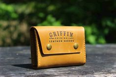 Handmade leather card holder Double click от GGLeatherCraft