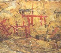 Pinturas esquematizadas. Los Estrechos. (Albalate del Arzobispo)