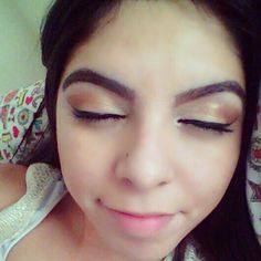 Eye brows and eye makeup on point today >>