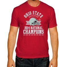 Ohio State Buckeyes 2015 College Football Playoffs National Champions Red Helmet Shirt