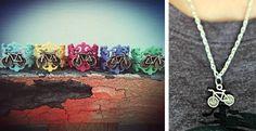 Summer Days Bicycle Ring & Necklace Set | Jane