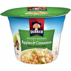 Cereal Recipes, Snack Recipes, Snacks, Quaker Instant Oatmeal, Good Source Of Fiber, Oatmeal Cups, Honey Almonds, Cinnamon Apples, Corn Syrup