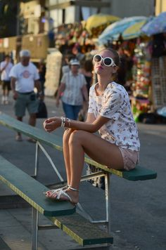 How to Look Cool at Summer Pool Party Pool Party Dresses, Party Dresses For Women, The Blonde Salad, Miu Miu, Prada, Summer Pool Party, Cute Sunglasses, Beach Attire, T Shirt And Shorts