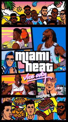 Mvp Basketball, Miami Heat Basketball, Nba Miami Heat, Irving Wallpapers, Dope Wallpapers, Sports Wallpapers, Nba Background, Nba Basket, Nba Pictures