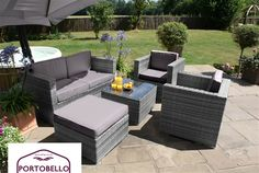 The Five Piece Rattan Garden Furniture Marylebone Sofa Set A Classic Rattan Sofa Set,A Two Seat Sofa And Two Armchairs Are Complimented By A...