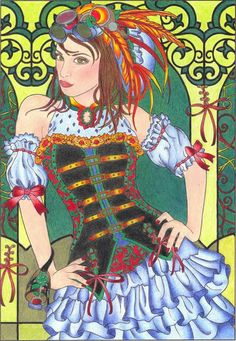 Colouring Pages, Coloring Books, Steampunk Robots, Amy Brown, Dover Publications, Colorful Drawings, Anime Art Girl, Steampunk Fashion, Steam Punk