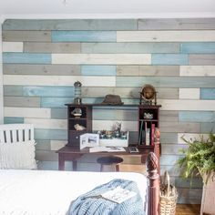 For an inexpensive, one of a kind accent wall follow these easy instructions on how to DIY a plank wall with chalk paint.