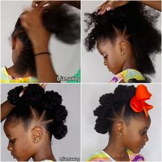 17 Cute And Easy Hairstyles For Kids Or give this crazy cute bun-hawk a go. 17 Lazy-Parent Hairstyle Ideas Kids Will Love Black Toddler Hairstyles, Childrens Hairstyles, Lil Girl Hairstyles, Girls Natural Hairstyles, Natural Hairstyles For Kids, Kids Braided Hairstyles, Wedding Hairstyles For Long Hair, Natural Hair Styles, Long Hair Styles