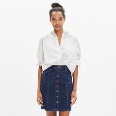Francophile: 13 Ways To Dress The Part. // @madewell Drapey Oversized Boyshirt