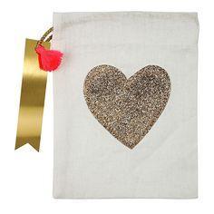 GLITTER HEART PARTY BAG - Bonjour Fête