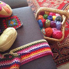 V stitch scarf