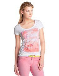 edc by ESPRIT Damen T-Shirt, 042CC1K038
