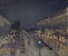 Camille PISSARRO , 1830 - 1903 The Boulevard Montmartre at Night (1897)