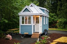 This is the 196square feet Zoe tiny home on wheels at the Mt. Hood tiny house village near Portland, Oregon. It's the Cypress 20 model that's designed and built by Tumbleweed Houses and is a…