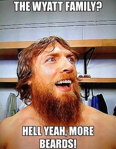 Honorary Beard Award...Best Wrestling Beard :  Daniel Bryan.
