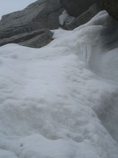 A little summer refreshment from yesterday - new snow at 3800m...  Winter is never far away in Chamonix, even in mid June!