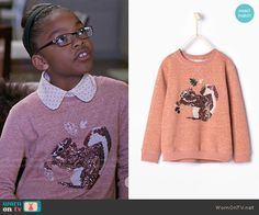 Diane's pink squirrel sweater on Black-ish Fashion Tv, Fashion Outfits, Pink Squirrel, Black Ish, Little Diva, Black Girls Rock, Knitwear, Queens, Cute Outfits