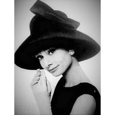 "6fbf27b037a09 Audrey Hepburn Eternally on Instagram  ""Audrey photographed by Cecil Beaton  wearing a Givenchy hat"