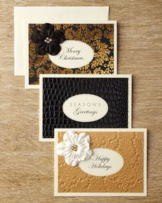 Flower Christmas Card Assortment by S.E. HAGARMAN DESIGNS at Horchow.