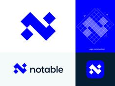 Abstract N monogram for Notable ( for sale ) designed by Vadim Carazan. Connect with them on Dribbble; the global community for designers and creative professionals. Abstract Logo, Geometric Logo, Logo Inspiration, Type Logo, News Logo, Web Design, Graphic Design, Bussiness Card, Corporate