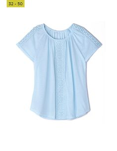 Shirts are must-haves in every woman's wardrobe. perfect for pairing with just about anything, make sure you have a few different styles and prints to dress up or down for any occasion. Boxy Top, Shirt Blouses, Shirts, Every Woman, Different Styles, Must Haves, Aqua, Dress Up, Lace