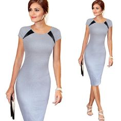 Business Casual Pencil Dress VfEmage Women's 2016 Spring Summer Printed Synthetic Leather Wear to Work Gender: Women Waistline: Natural Sleeve Style: Regular Pattern Type: Print Style: Casual Material