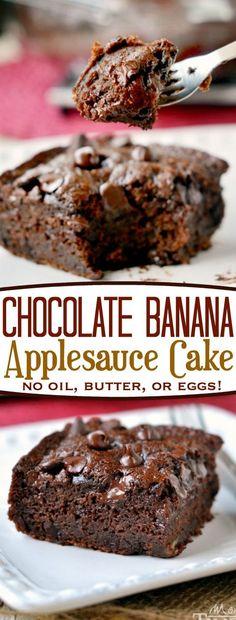 Chocolate Banana Applesauce Cake - CUCINA DE YUNG