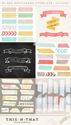 This-n-That Design Elements 1 - Hi Rez Photoshop Overlays - $10 -- http://www.ewcouture.com/news-musings/2013/1/8/this-n-that-high-rezolution-photoshop-overlays.html
