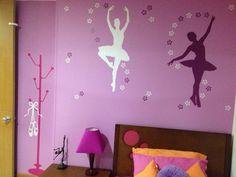 Wall decal - Bailarinas / Perchero con zapatillas - vinilo  decorativo