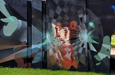 Wall paints, Muurschilderingen, Peintures Murales,Trompe-l'oeil, Graffiti, Murals, Street art.: Eindhoven - Netherlands Vesod