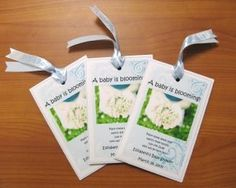 baby shower Favors For Baby Shower photo -- Flower packets!