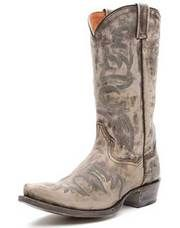 The Anaheim looks like you just rode in off the sun-bleached high plains with this Dan Post Distressed Grey Cowboy Boot. This mens cowboy  boot features a distressed grey leather foot and shaft, with a multi-colored stitch pattern. The snip toe, cowboy heel, black piping and distressed leather sole makes this boot stand out in a crowd.