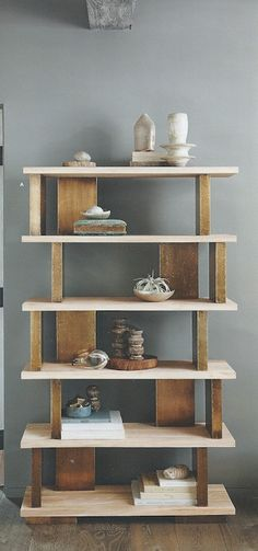 Roost Solari Bookshelves, Tall http://www.modishstore.com/collections/roost-solari-collection/products/roost-solari-bookshelves-tall  Found at Modish www.modishstore.com  #elm #brass accents