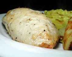 Easy Garlic Chicken Breasts from Food.com: This is really simple, but surprisingly good. The chicken is somewhat garlicky and tangy because of the lime juice, but it is not too strong-tasting. It goes great with mashed potatoes and corn muffins.