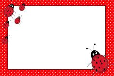 Lovely Ladybugs Free Printable Invitations.