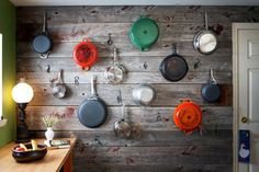 Love the pops of color in this Jacques Pepin inspired display wall via @The New York Times