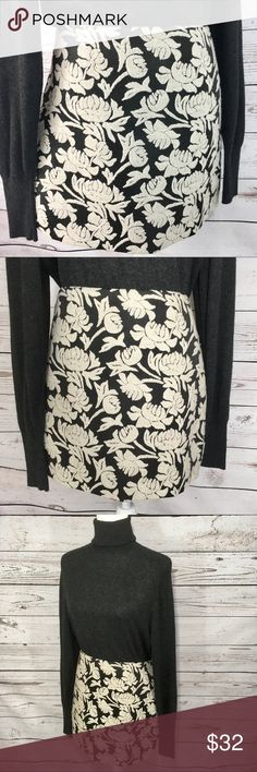 """Rachel Roy Embroidered floral mini skirt •Details• Soft off white raised embroidered floral pattern on black mini skirt. Lined. Zipper down entire side of skirt. •Condition• Excellent, no stuns or tears. •Material• Polyester, Viscose, wool & acrylic blend •Color• Black & off white All measurements taken while item is laying flat & are approximate •Waist• 17.5"""" •Length• 15"""" Rachel Roy Skirts Mini"""