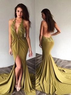 Customize Sexy Green Deep v-neck Backless Prom Dresses,Long Mermaid Evening Dresses Appliques, Lace Chiffon Party Dress 2019 sold by sharedress. Shop more products from sharedress on Storenvy, the home of independent small businesses all over the world. Halter Prom Dresses Long, Pageant Dresses For Teens, Elegant Bridesmaid Dresses, Chiffon Evening Dresses, Mermaid Evening Dresses, Cheap Prom Dresses, Modest Dresses, Homecoming Dresses, Dress Prom