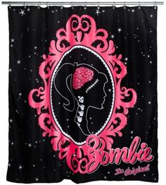 Barbie Zombie Shower Curtain