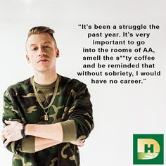 """If I can be an example of getting sober / Then I can be an example of starting over. This man has been such an inspiration to me love you Macklemore"