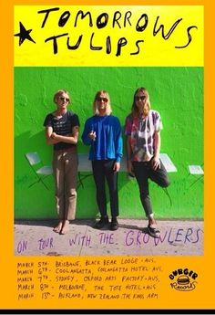 "TOMORROWS TULIPS touring Australia in March. Their latest LP ""Experimental Jelly"" is still in stock on BURGER RECORDS"