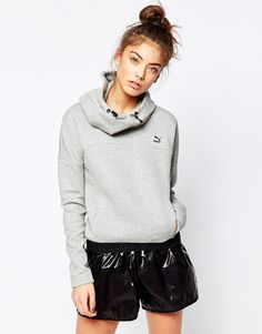 Puma+Hoodie+Logo+Sweatshirt