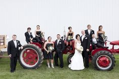 I just love this bridal party shot! Photograph by LaceHanky Photography http://www.storyboardwedding.com/rustic-elegance-in-this-country-cornfield-wedding-complete-with-rain-drops-chandeliers/