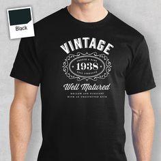 Birthday Gift Present Idea for Boys Dad Him Men T Shirt 50 Tee Shirt 1967 Short Sleeve T-Shirt Fashion Gray Style 85th Birthday, 30th Birthday Gifts, Man Birthday, Birthday Shirts, Birthday Ideas, Birthday Parties, Themed Parties, Birthday Cakes, Happy Birthday