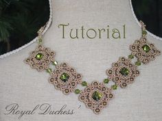 Tutorial for beadwoven necklace 'Royal Duchess' - PDF beading pattern - DIY by TrinketsBeadwork on Etsy https://www.etsy.com/listing/209221722/tutorial-for-beadwoven-necklace-royal