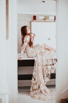 Rue De Seine's Love Spell bridal gown Layer Cake) Wedding Bows, Elegant Wedding Dress, Elope Wedding, Wedding Wishes, Wedding Attire, Boho Wedding, Wedding Dresses, Miami Wedding, Wedding Vendors